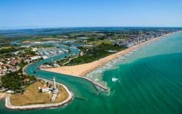 Jesolo, vista aerea della spiaggia (ph. Digital Photo S.G.)